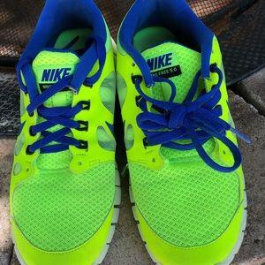 Nike Free Runs 5.0 Neon yellow + blue